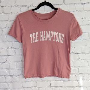 Brandy Melville J. Galt Pink The Hamptons T-shirt